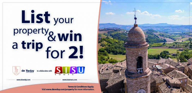 List your Gozo Property with deReday and Win!